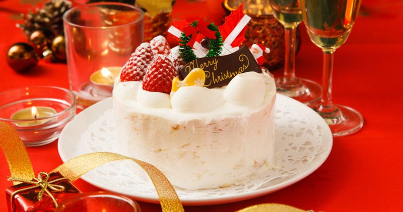 クリスマスケーキの配布